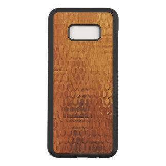 Golden Samsung Galaxy S8+ Slim Cherry Wood Case
