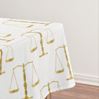 Golden Scales of Justice Pattern | Law Gifts Tablecloth