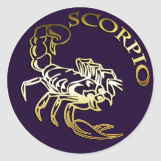 GOLDEN SCORPIO CLASSIC ROUND STICKER