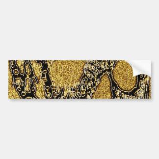 Golden Scull Bumper Sticker
