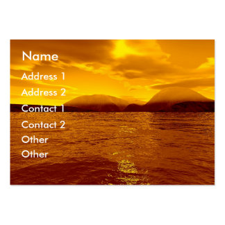 Golden Sea | Pack Of Chubby Business Cards