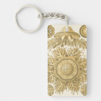 Golden Sea Creatures Double-Sided Rectangular Acrylic Key Ring