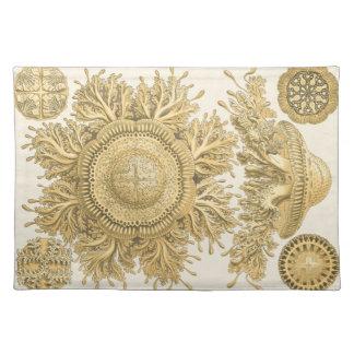 Golden Sea Creatures Placemat