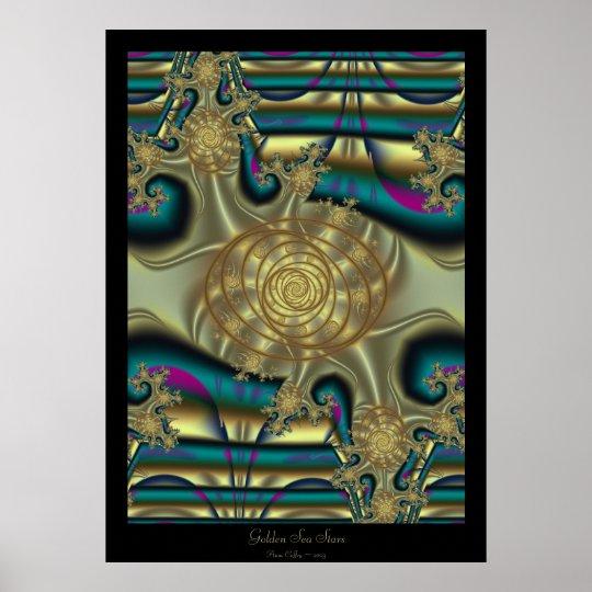 Golden Sea Stars Poster