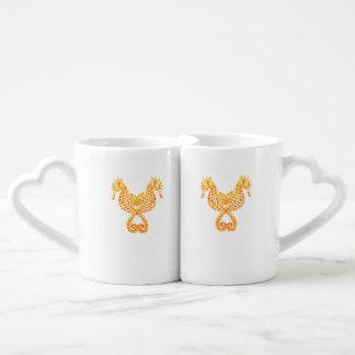 Golden Seahorses Lovers Mug