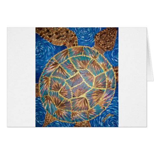 Golden Seaturtle Card