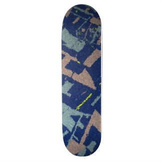 Golden Section Blue Skate Board