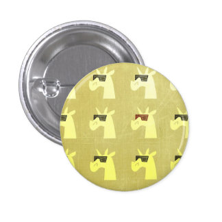 Golden Shades of Unicorn Button