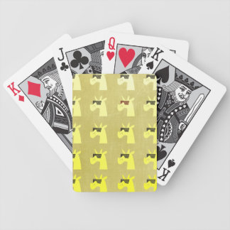 Golden Shades of Unicorn Playing Cards