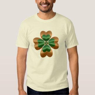 Golden Shamrock Over Light T-shirt