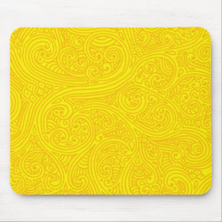 Golden Sharpie Swirls Mouse Mat