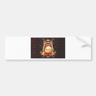 Golden shield bumper sticker