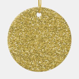 Golden Shimmer Glitter Christmas Ornament