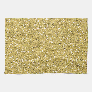 Golden Shimmer Glitter Tea Towel