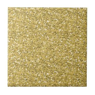 Golden Shimmer Glitter Ceramic Tiles