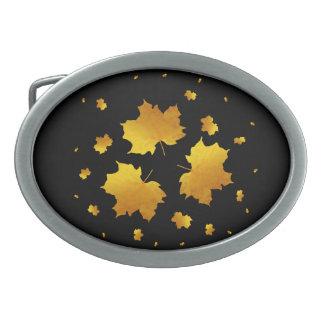 Golden Shimmer Maple Leaf Belt Buckle