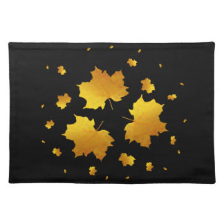 Golden Shimmer Maple Leaf Placemat