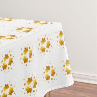 Golden Shimmer Maple Leaf Tablecloth