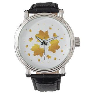 Golden Shimmer Maple Leaf Watch