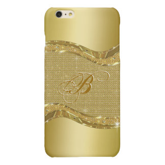 Golden Shiny Look With Diamonds Pattern iPhone 6 Plus Case