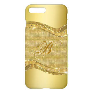Golden Shiny Look With Diamonds Pattern iPhone 7 Plus Case