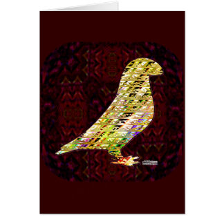 Golden Show Racer Pigeon Note Card
