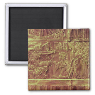 Golden shrine, Tutankhamun's Treasure Square Magnet