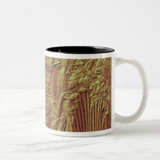 Golden shrine, Tutankhamun's Treasure Two-Tone Coffee Mug
