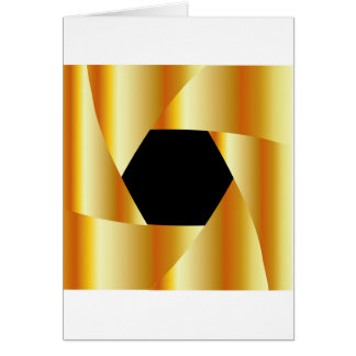 Golden shutter background greeting card