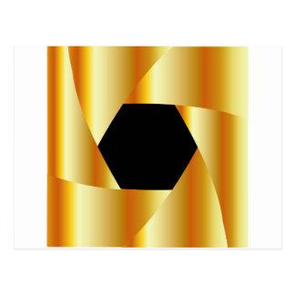 Golden shutter background postcard