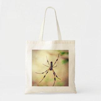 Golden Silk Orb Weaver Spider Tote Bag