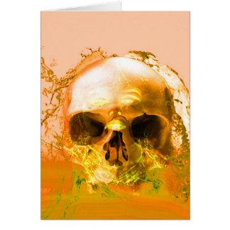 Golden Skull in Water Cards
