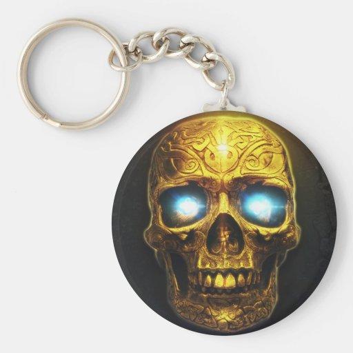 Golden Skull Key Chain