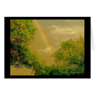 Golden Sky Rainbow Card
