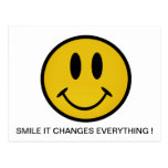 Golden smiley face postcard