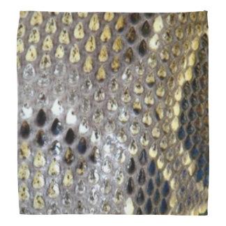 Golden snake skin pattern bandana