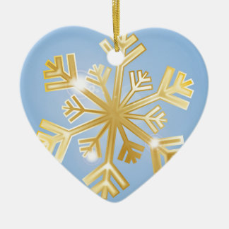 Golden Snowflake Christmas Ornament