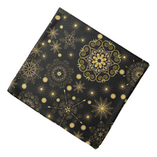 Golden Snowflake Pattern Bandana