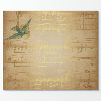 Golden Song Music Matte Wrapping Paper