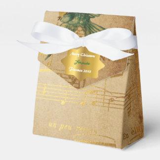 Golden Song Notes Christmas Gift Favor Favour Box
