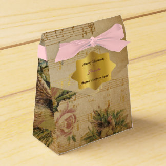 Golden Song Notes Christmas Gift Favor Party Favour Boxes