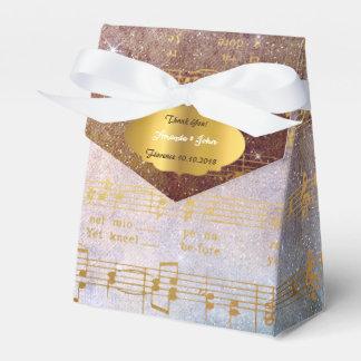 Golden Song Notes Wedding Favor Thank You Favour Box