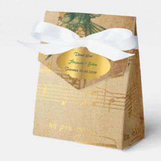 Golden Song Notes Wedding Favor Thank You Favour Boxes