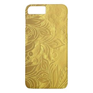 Golden Sophisticated & Elegant Embossed Design iPhone 8 Plus/7 Plus Case