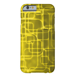 Golden Space Age Abstract Art Barely There iPhone 6 Case
