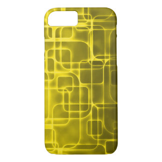 Golden Space Age Abstract Art iPhone 7 Case