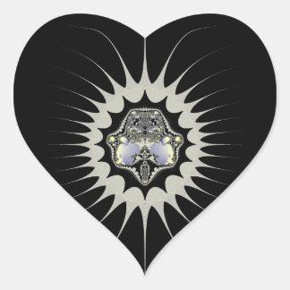 Golden Space Heart Sticker