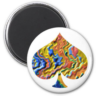 Golden Spade - Poker Fan Refrigerator Magnet