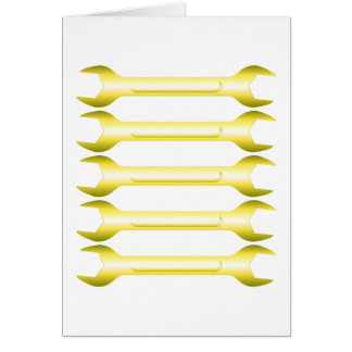 Golden Spanners Greeting Card