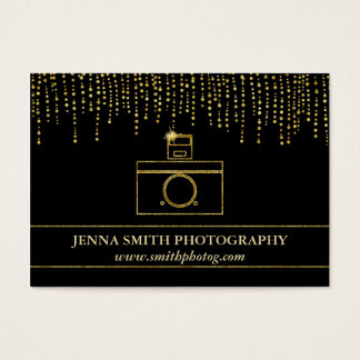 Golden Sparkle and Glitter Photographer Camera
